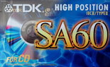 TDK-SA60-Crome-Tape-Cassette-Cassettebandje