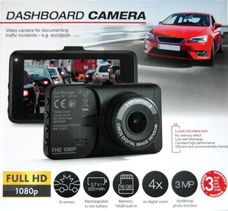 Tagra CR3B2 Dashcam Full HD 16GB G-Sensor Li-Ion Accu