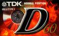 TDK D60 Normal Tape Cassette Cassettebandje
